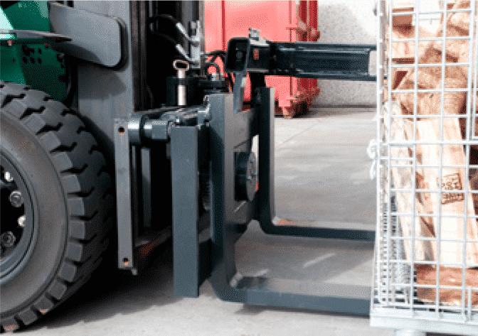 Toyota-Gabelstapler-180° Kistendrehgerät RLW Produktbild 3