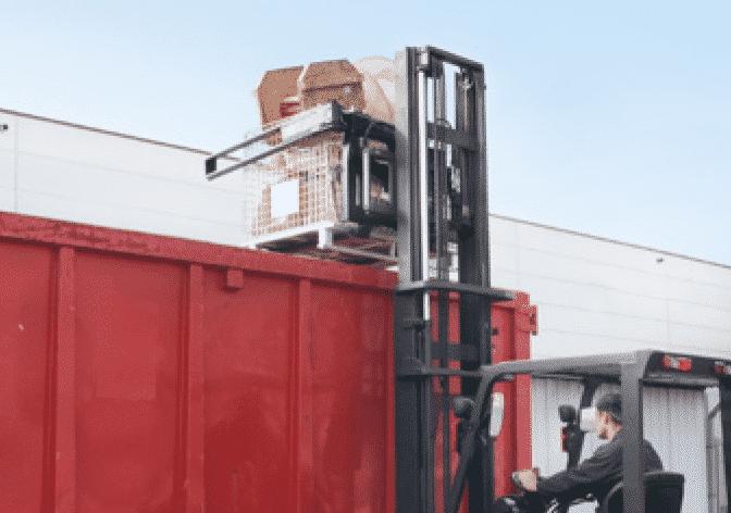 Toyota-Gabelstapler-180° Kistendrehgerät RLW Produktbild 4