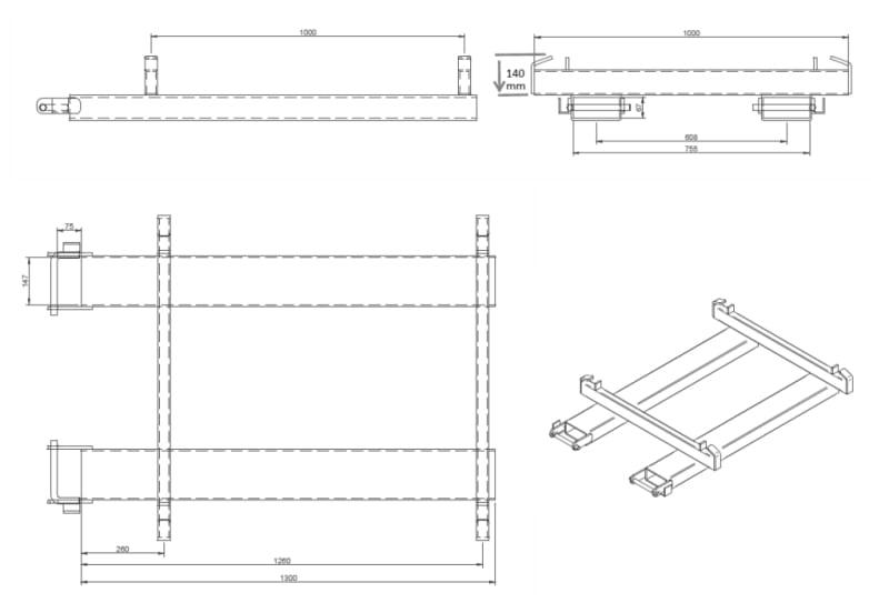 Toyota-Gabelstapler-Big Bag Traeger BBH Zeichnung 1