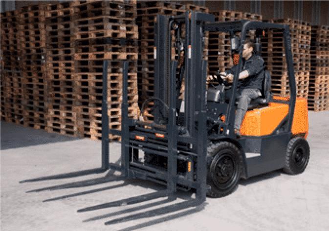 Toyota-Gabelstapler-Doppelpalettenklammer DPS Produktbild 3