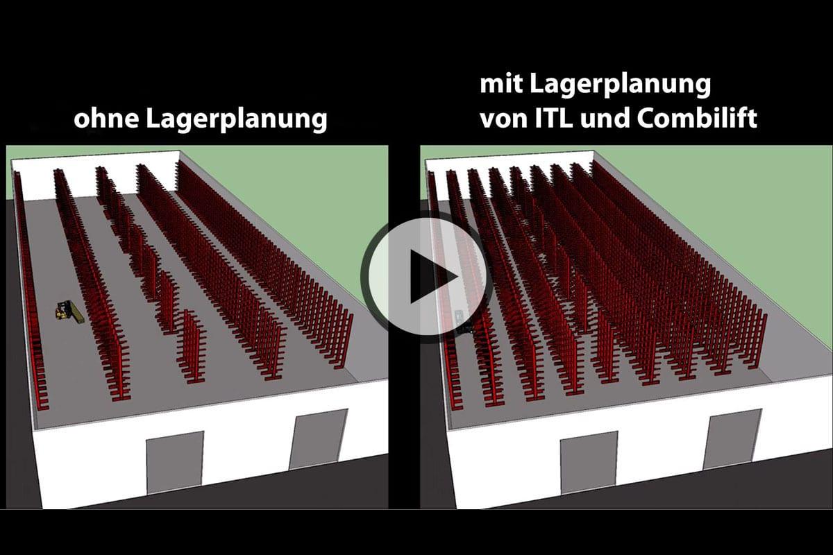 ITL Gabelstapler Lagerlogistik vorher und nachher