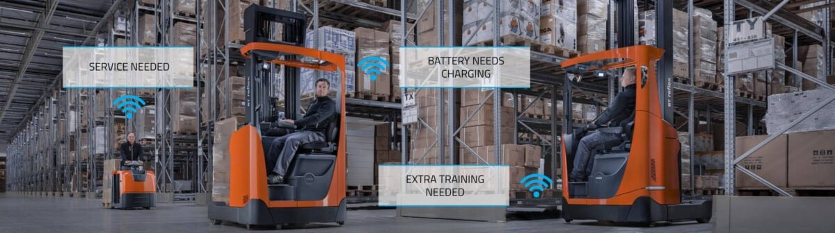 Toyota-Gabelstapler-ITL Lagertechnik Blog Toyota Smart Trucks vernetzte Gabelstapler Hubwagen Flurfoerderzeug logistische Herausforderungen meistern 2