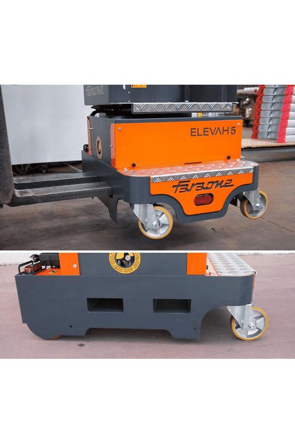 Toyota-Gabelstapler-ITL Lagertechnik Faraone Elevah 5 Move Picking Hebebuehne Arbeitsbuehne 16 Detailansicht