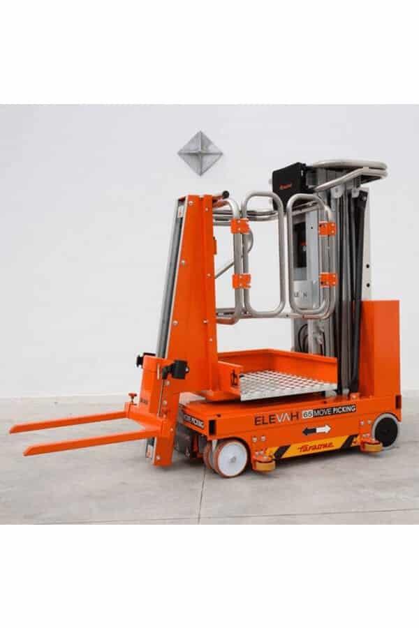 Toyota-Gabelstapler-ITL Lagertechnik Faraone Elevah 65 FL Picking Hebebuehne 8 Detailansicht