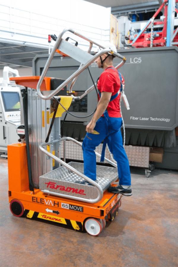 Toyota-Gabelstapler-ITL Lagertechnik Faraone Elevah 65 Move Arbeitsbuehne Hebebuehne 6 Detailansicht