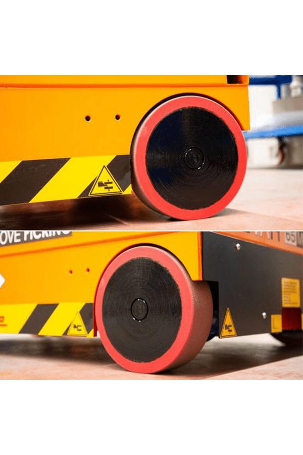 Toyota-Gabelstapler-ITL Lagertechnik Faraone Elevah 65 Move Picking Arbeitsbühne Hebebühne 13 Detailansicht