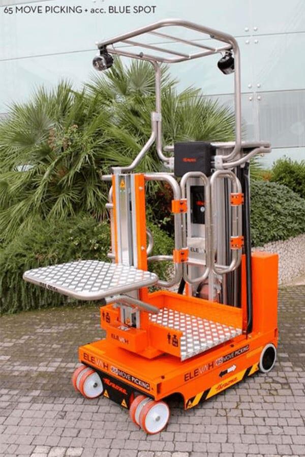 Toyota-Gabelstapler-ITL Lagertechnik Faraone Elevah 65 Move Picking Arbeitsbuehne Hebebuehne 4 Detailansicht