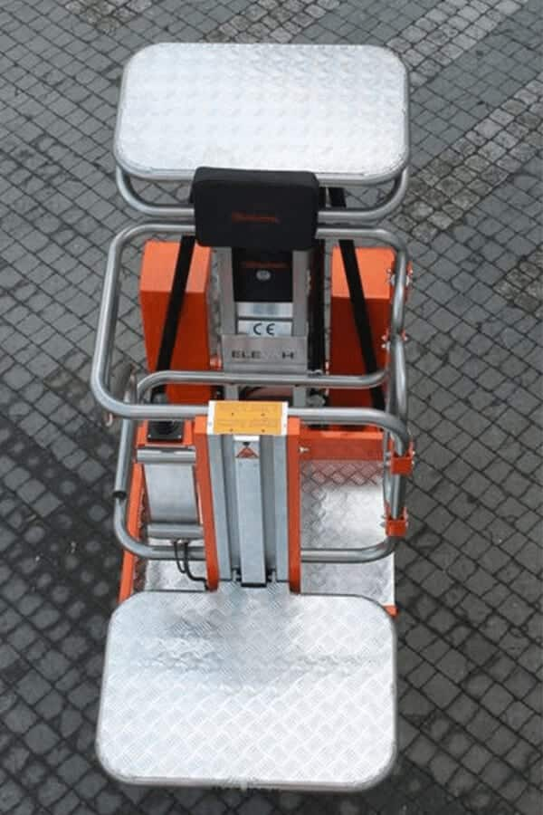 Toyota-Gabelstapler-ITL Lagertechnik Faraone Elevah 65 Move Picking Arbeitsbuehne Hebebuehne 6 Detailansicht