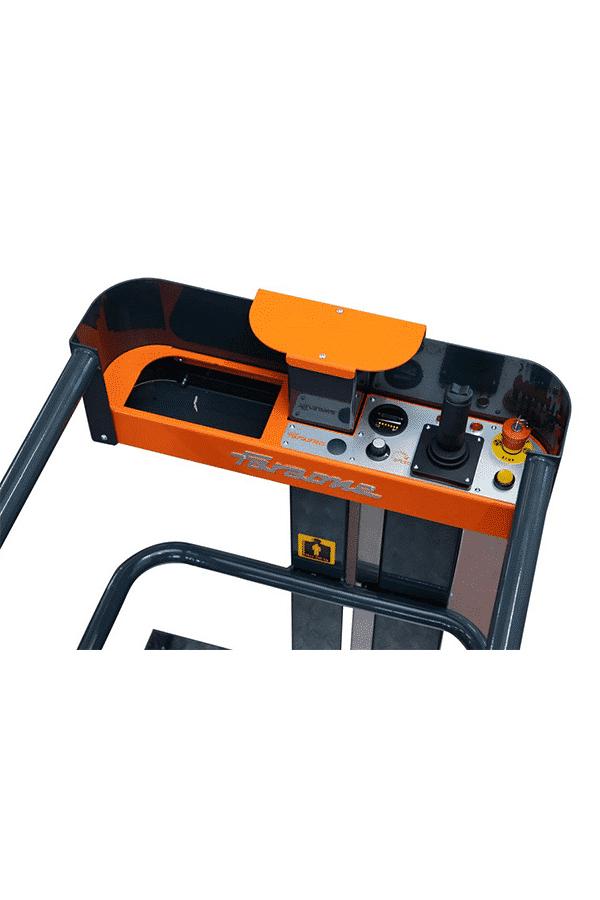 Toyota-Gabelstapler-ITL Lagertechnik Faraone Elevah Hebebuehne Arbeitsbuehne 5 Move 10 Detailansicht