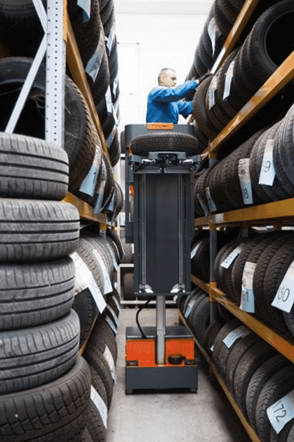 Toyota-Gabelstapler-ITL Transportmaschinen Faraone Elevah E5 Tires Autoreifen Einlagerung 5 Detailansicht