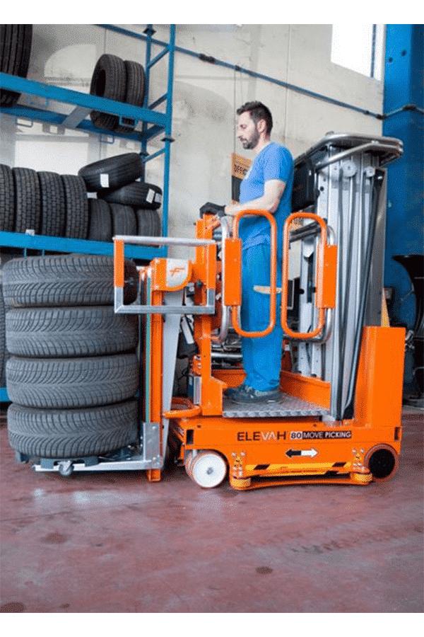 Toyota-Gabelstapler-ITL Transportmaschinen Faraone Elevevah Picking 75 Tires Reifen Kommissionierung Einlagerung 10 Detailansicht