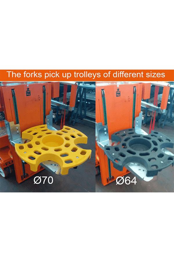 Toyota-Gabelstapler-ITL Transportmaschinen Faraone Elevevah Picking 75 Tires Reifen Kommissionierung Einlagerung 12 Detailansicht
