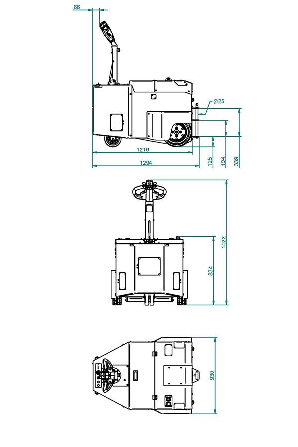 Toyota-Gabelstapler-ITL Transportmaschinen GmbH Toyota Gabelstapler MasterMover Elektroschlepper AT1200 TOW detail05