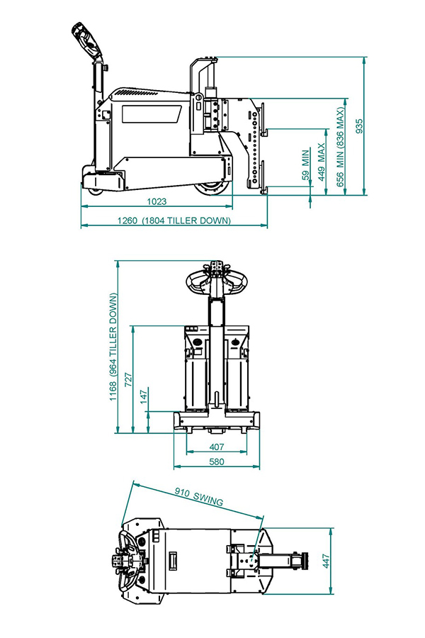 Toyota-Gabelstapler-ITL Transportmaschinen GmbH Toyota Gabelstapler MasterMover Elektroschlepper MT400 detail06