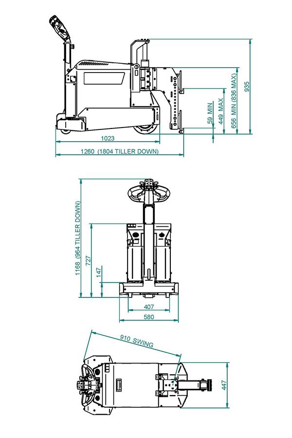 Toyota-Gabelstapler-ITL Transportmaschinen GmbH Toyota Gabelstapler MasterMover Elektroschlepper MT600detail07