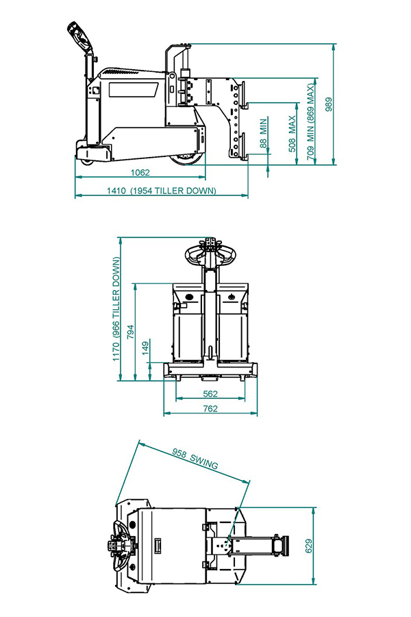 Toyota-Gabelstapler-ITL Transportmaschinen GmbH Toyota Gabelstapler MasterMover Elektroschlepper MT800 detail04