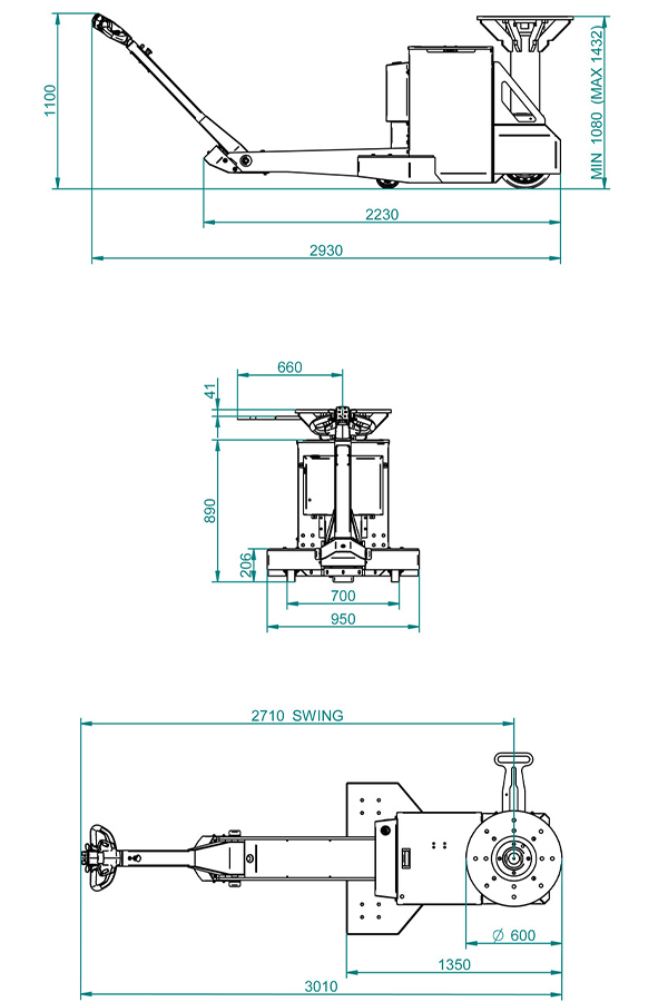 Toyota-Gabelstapler-ITL Transportmaschinen GmbH Toyota Gabelstapler MasterMover Elektroschlepper TMS1100 detail05