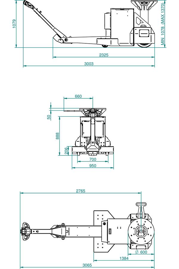 Toyota-Gabelstapler-ITL Transportmaschinen GmbH Toyota Gabelstapler MasterMover Elektroschlepper TMS2000 detail02