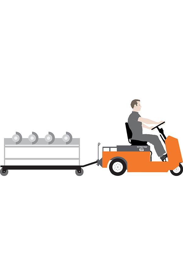 Toyota-Gabelstapler-ITL Transportmaschinen GmbH Toyota Gabelstapler Schlepper Tracto CBT 12847