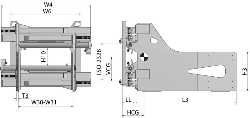 Kartonklammer HBG-T Zeichnung
