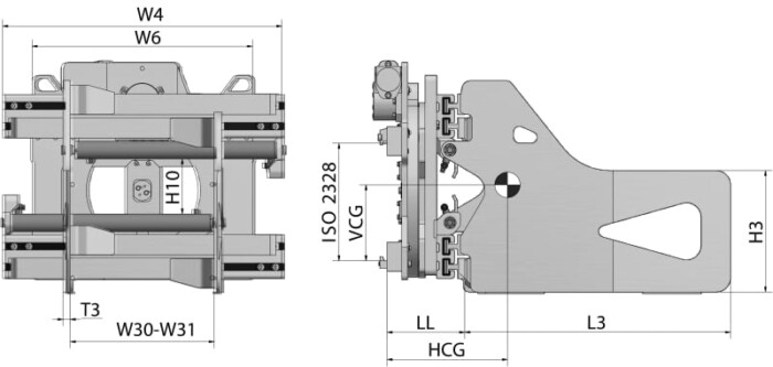 Kartonklammer HBR Zeichnung