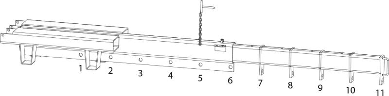 Kranarm teleskopisch manuell – Gabelzinken montiert GAB 2