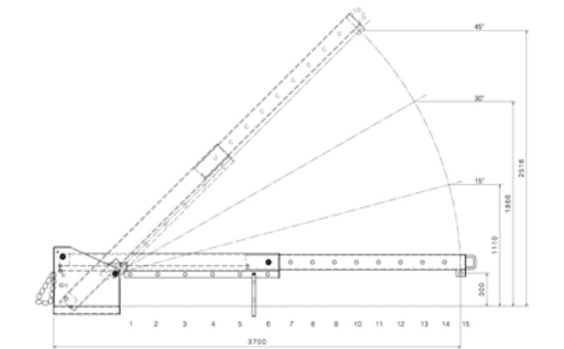 Kranarm GAB 3 Zeichnung