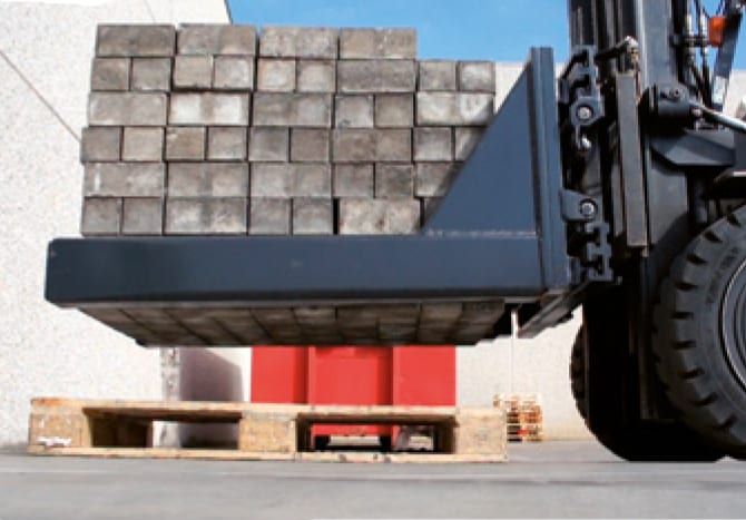 Toyota-Gabelstapler-Produkt Betonblockklammern Selbstkompensierende Armauflagen HC Produktbild 4