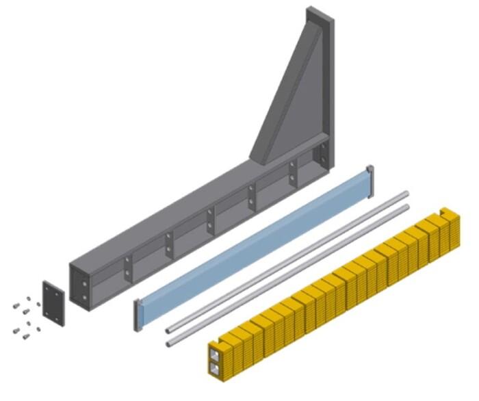 Betonblockklammern HC / Steinklammer HC Zeichnung 2