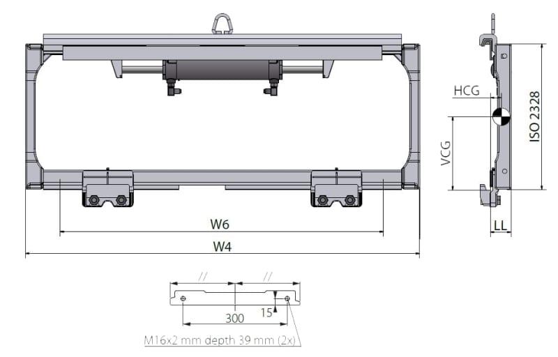 Seitenschieber FEM 3 SHP 225 Technische Zeichnung