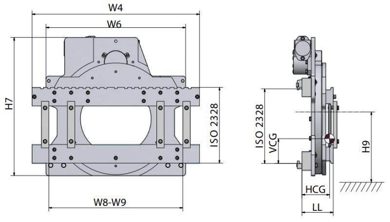 Toyota-Gabelstapler-technische zeichnung